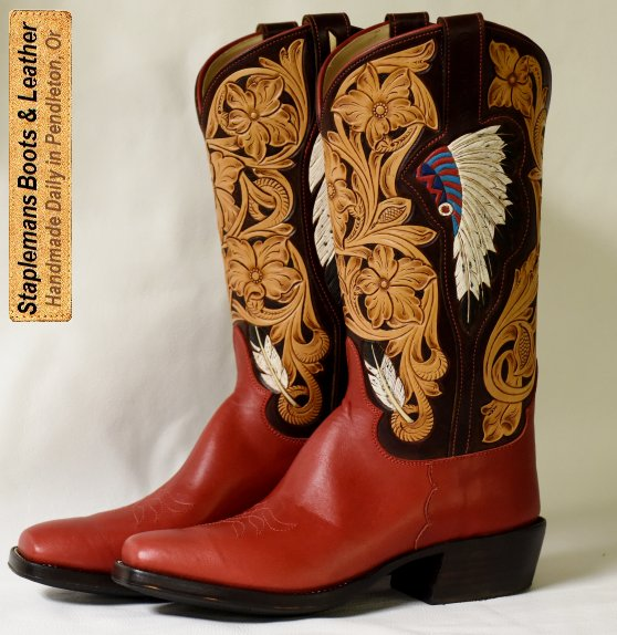 Handmade Boot Examples at Staplemans Custom Boots Shoes Pendleton